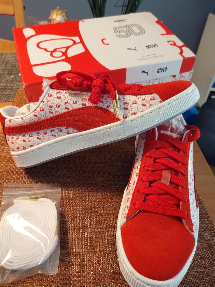 promo code fb495 b2c2a Puma Red Suede Classic Hello Kitty Sneakers Size US 10 Regular (M, B) 39%  off retail