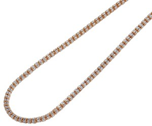 Jewelry Unlimited Two Tone Diamond Cut Ice Chain Necklace 3MM 24 inches