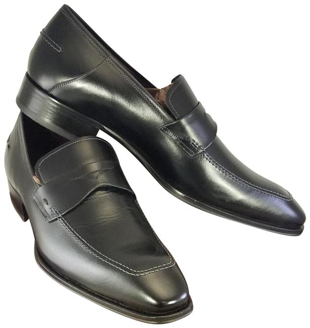 Item - Black Toulon 5968 Penny Loafers Leather Man M Formal Shoes Size US 10.5 Regular (M, B)