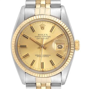 Rolex Rolex Datejust 36 Steel Yellow Gold Vintage Mens Watch 16013