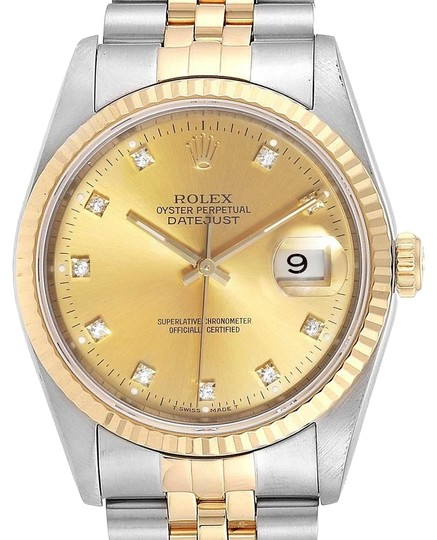 Preload https://img-static.tradesy.com/item/25914314/rolex-champagne-datejust-steel-18k-yellow-gold-diamond-dial-mens-16233-watch-0-1-540-540.jpg