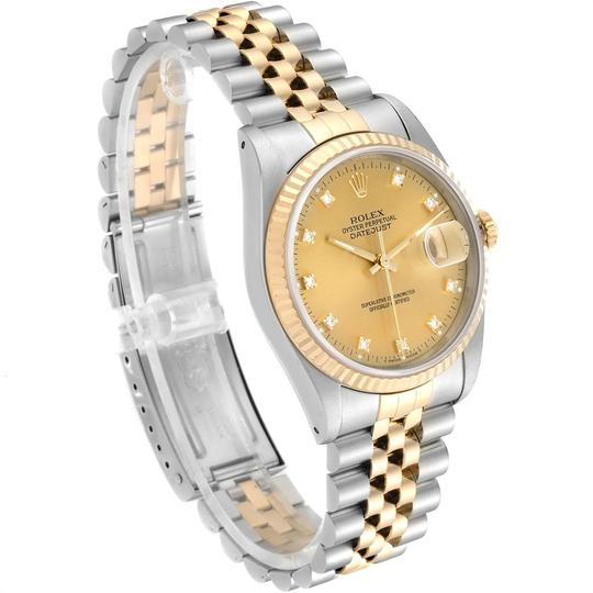 Rolex Rolex Datejust Steel 18K Yellow Gold Diamond Dial Mens Watch 16233 Image 2