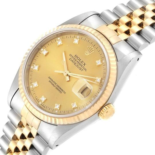 Rolex Rolex Datejust Steel 18K Yellow Gold Diamond Dial Mens Watch 16233 Image 4