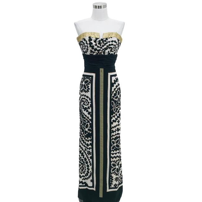 Item - Black Gold White XS Maxi Strapless Long Formal Dress Size 0 (XS)