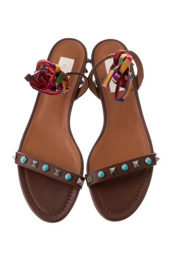 Valentino Studded Ankle Strap brown Sandals Image 1