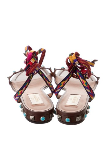 Valentino Studded Ankle Strap brown Sandals Image 2