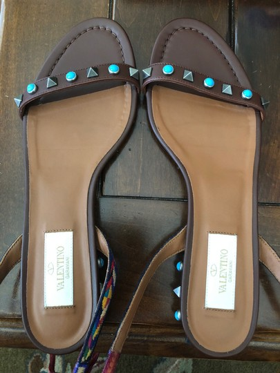 Valentino Studded Ankle Strap brown Sandals Image 5