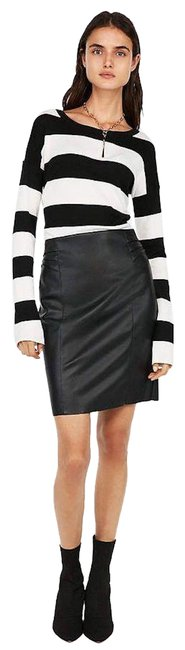 Preload https://img-static.tradesy.com/item/25914424/express-black-high-waisted-faux-leather-pleated-pencil-skirt-size-6-s-28-0-1-650-650.jpg