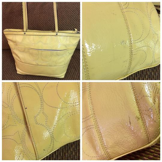 Coach Tote in Yellow Image 10