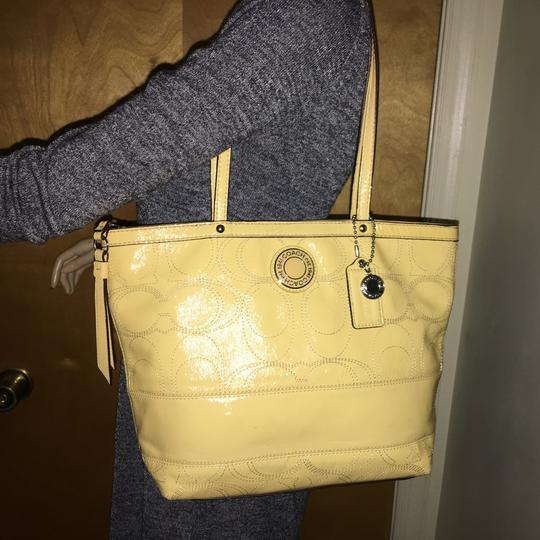 Coach Tote in Yellow Image 3