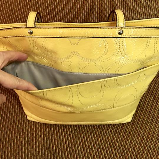 Coach Tote in Yellow Image 4