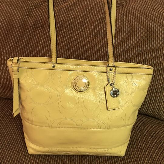 Coach Tote in Yellow Image 5
