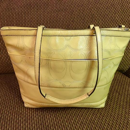 Coach Tote in Yellow Image 6