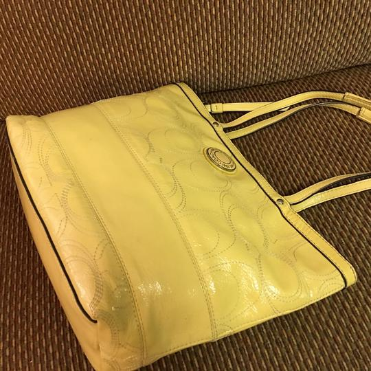 Coach Tote in Yellow Image 7