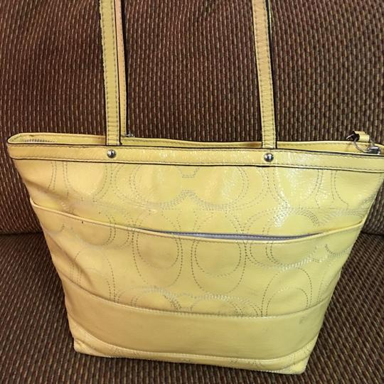 Coach Tote in Yellow Image 8