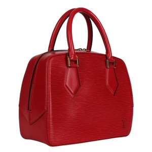 Louis Vuitton Epi Leather Sablons Satchel in Red