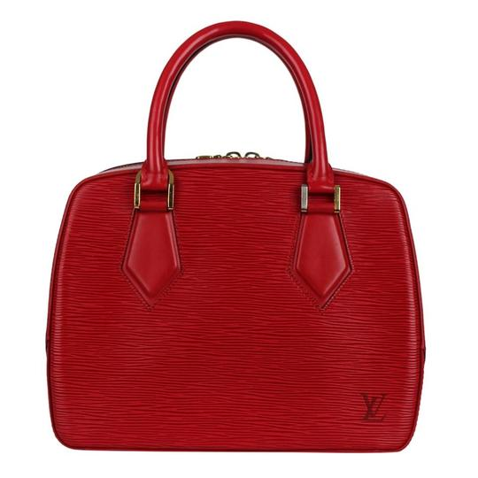 Louis Vuitton Epi Leather Sablons Satchel in Red Image 1