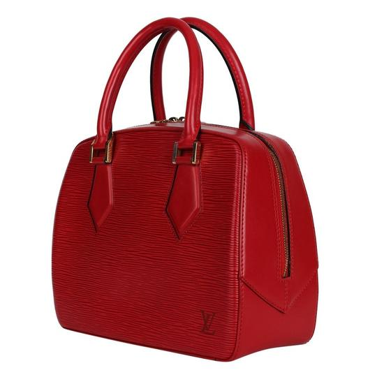 Louis Vuitton Epi Leather Sablons Satchel in Red Image 2