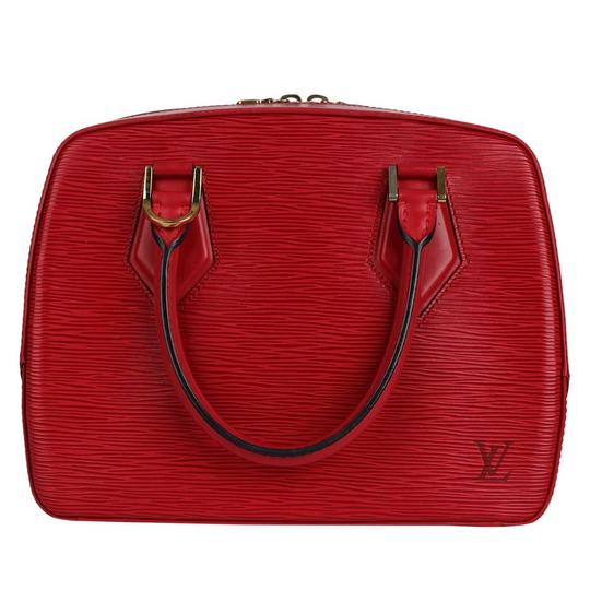 Louis Vuitton Epi Leather Sablons Satchel in Red Image 3