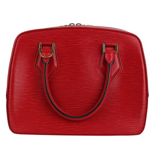 Louis Vuitton Epi Leather Sablons Satchel in Red Image 4