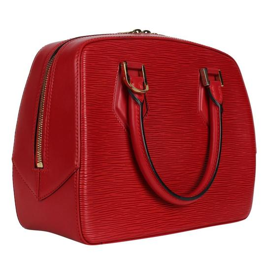 Louis Vuitton Epi Leather Sablons Satchel in Red Image 6