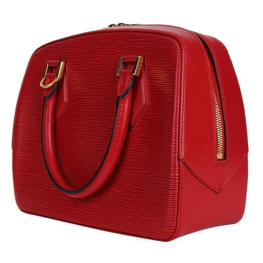 Louis Vuitton Epi Leather Sablons Satchel in Red Image 7