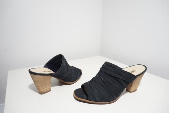 Paul Green Strappy Comfortable Blue Mules Image 1