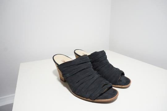 Paul Green Strappy Comfortable Blue Mules Image 2