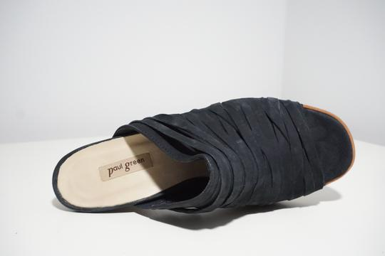 Paul Green Strappy Comfortable Blue Mules Image 3
