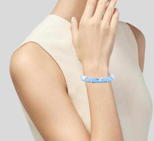 Louis Vuitton In Stores! Louis Vuitton Baby Blue & Silver Daily Monogram Bracelet Image 1