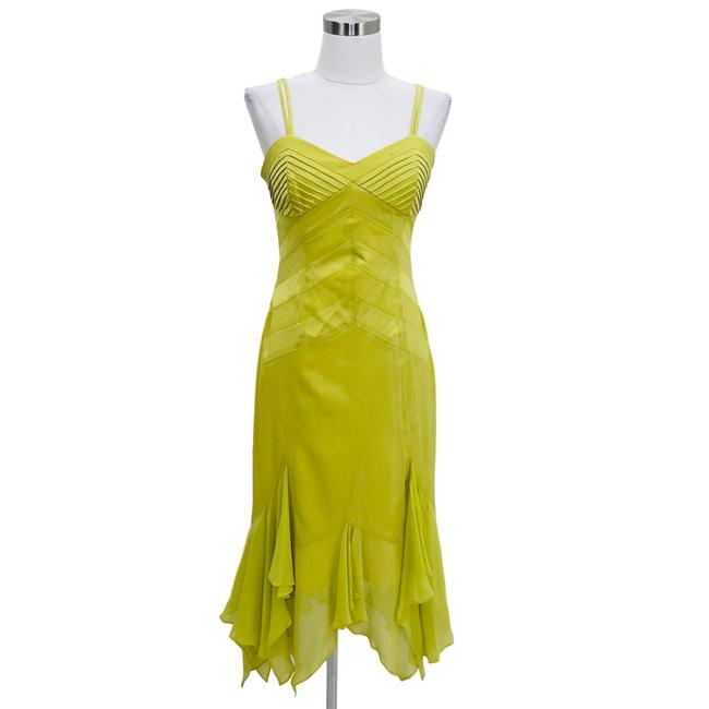 Karen Millen Green Designer Medium Solid Silk Sundress Long
