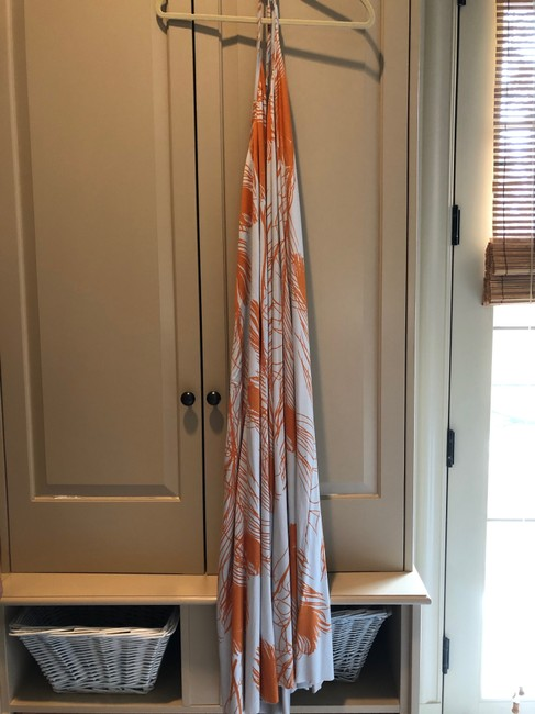 Multi Colored, Grey and Orange Maxi Dress by Rachel Pally Image 2