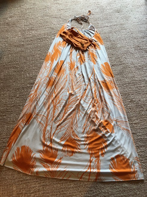 Multi Colored, Grey and Orange Maxi Dress by Rachel Pally Image 3