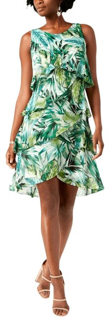 Preload https://img-static.tradesy.com/item/25914538/green-tropical-palm-print-ruffled-casual-new-cocktail-dress-size-16-xl-plus-0x-0-1-650-650.jpg