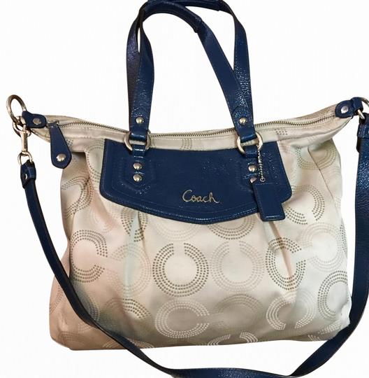 Coach Satchel in Light Gray/Blue Image 0