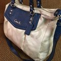 Coach Satchel in Light Gray/Blue Image 1