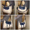 Coach Satchel in Light Gray/Blue Image 2