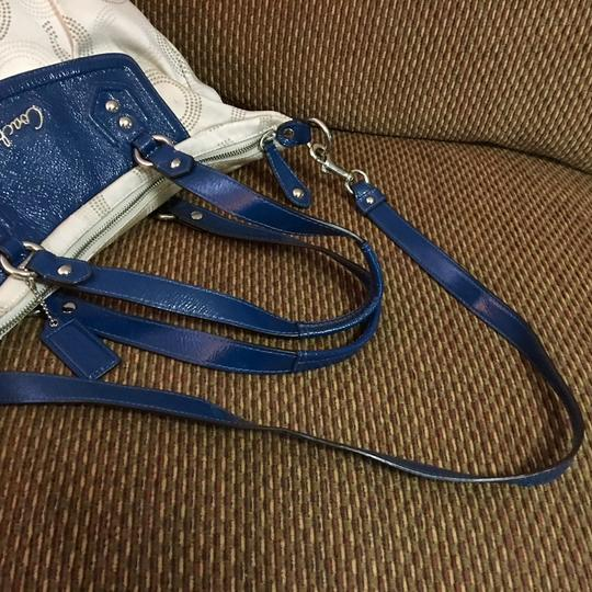Coach Satchel in Light Gray/Blue Image 5