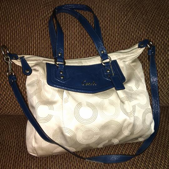 Coach Satchel in Light Gray/Blue Image 7