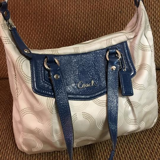 Coach Satchel in Light Gray/Blue Image 9
