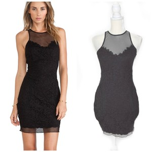 SAYLOR Illusion Sexy Party Lace Homecoming Dress