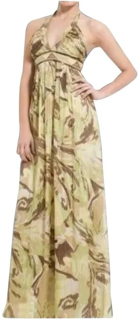 Preload https://img-static.tradesy.com/item/25914612/bcbgmaxazria-yellow-green-brown-willowmulti-silj-halter-gown-maxi-long-cocktail-dress-size-0-xs-0-1-650-650.jpg