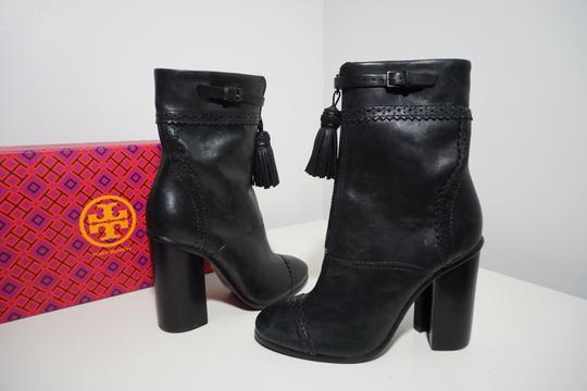 Tory Burch Leather Black Boots Image 1