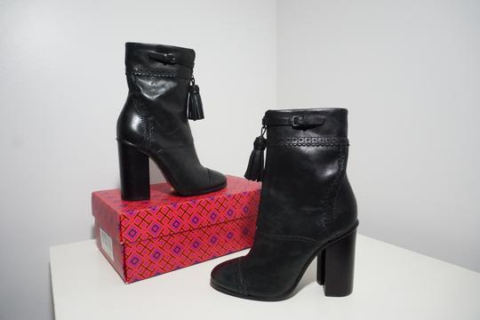 Tory Burch Leather Black Boots Image 2