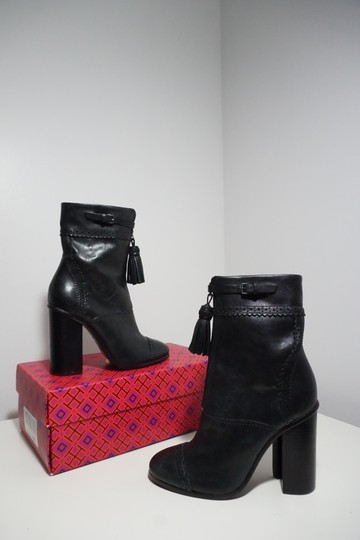 Tory Burch Leather Black Boots Image 3
