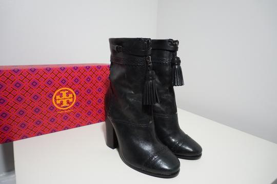 Tory Burch Leather Black Boots Image 4