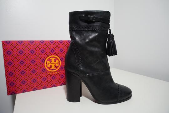 Tory Burch Leather Black Boots Image 8