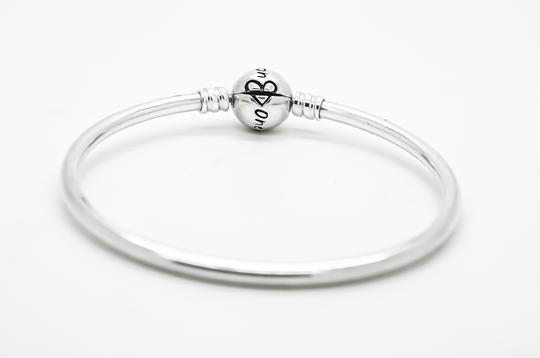 PANDORA Sterling Silver One in a Million Moments Solid Charm Bangle Image 1