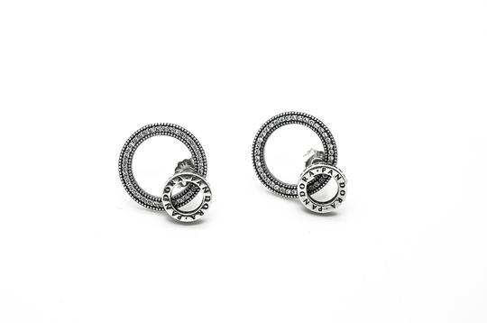 PANDORA Forever Pandora Signature Earrings in Sterling Silver and CZ Image 1