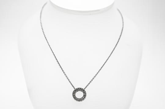 PANDORA Sterling Silver Circle of Sparkle Necklace 17.7In Image 2